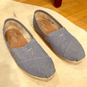 TOMS Classic Denim Slip-Ons - Chambray Blue